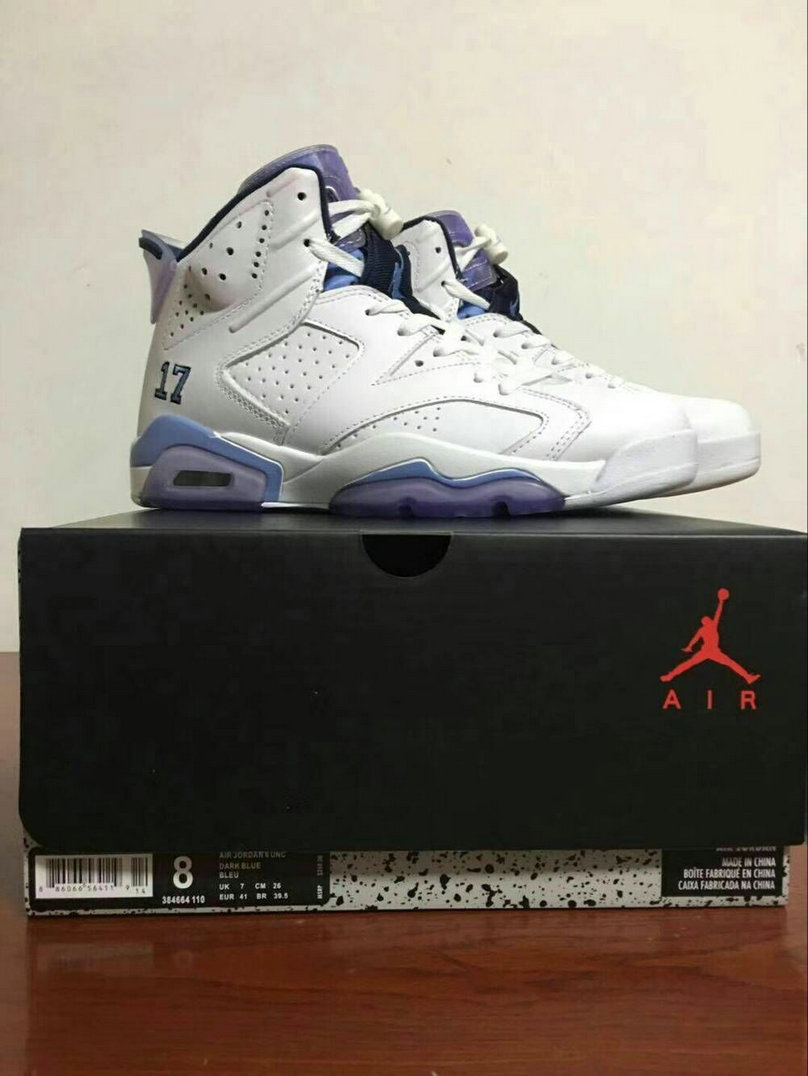 2018 Nike Air Jordan 6 White Purple Cheap Sale
