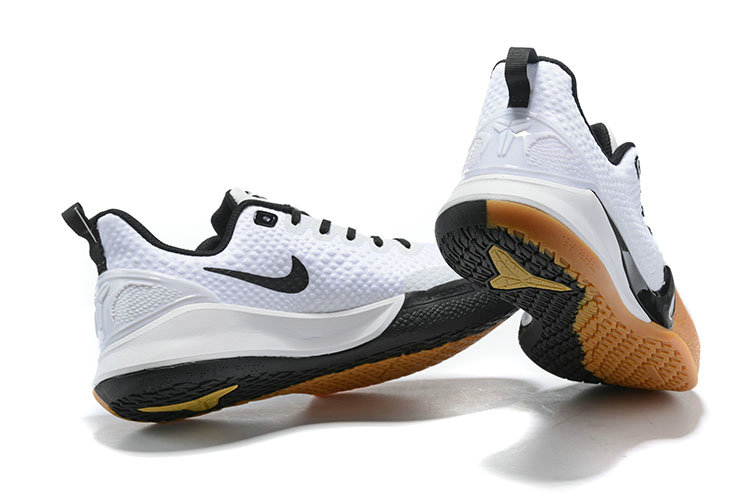 2019 Cheap Nike Mamba Focus Basketball Shoes in White Black Gum Light