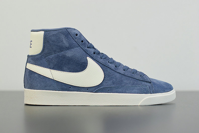 2019 Where To Buy Cheap Nike Blazer Mid Vntg Suede Diffused Blue Sail Bleu Voile 917862-400