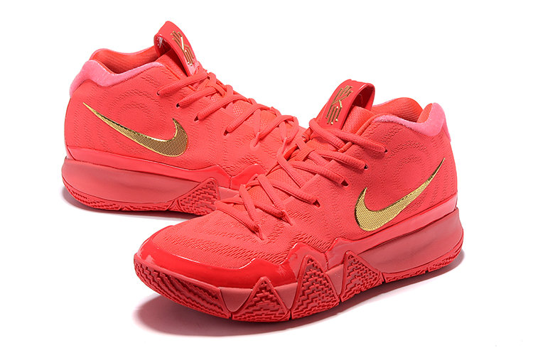 Cheap Nike Kyrie 4 Irving Basketball Shoes University Red Gold