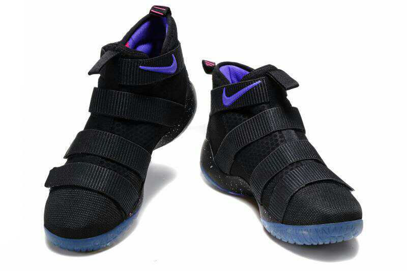 Cheap Nike LeBron Soldier 11 Black Purple Pink Basketball Shoes For Sale