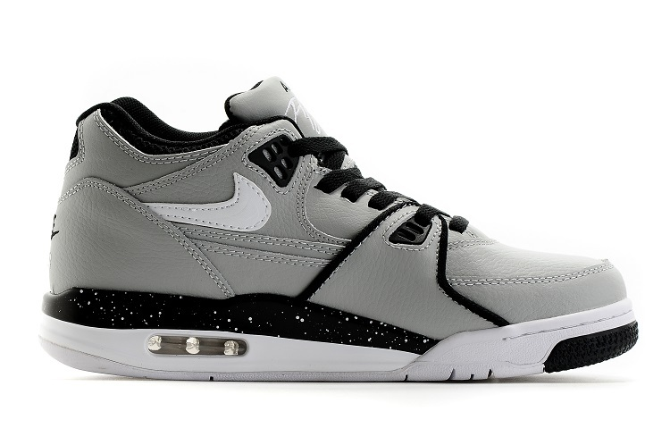 Nike Air Flight 89 Wolf Grey Black-White Shoes For Sale