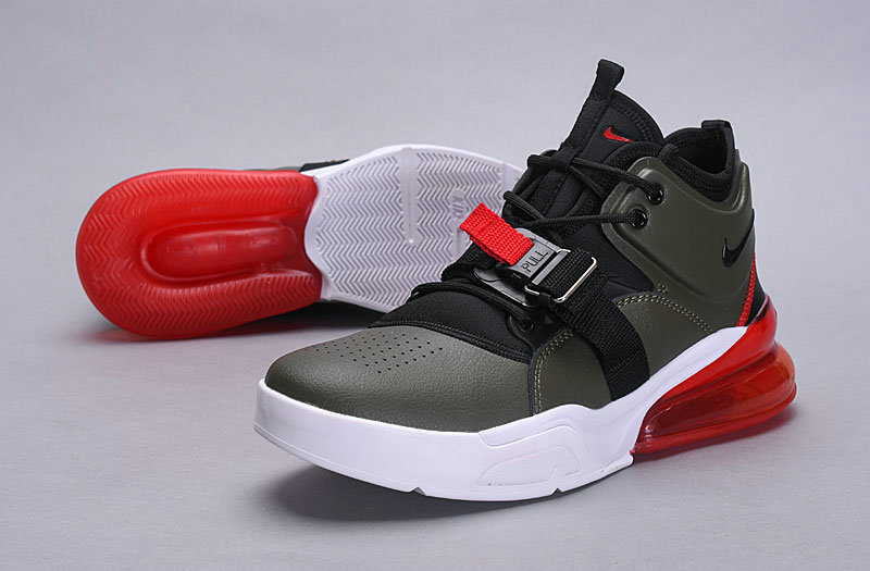 Nike Air Force 270 Black Gray Red
